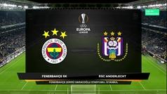 Europa League (J4): Resumen y goles del Fenerbahce 2-0 Anderlecht
