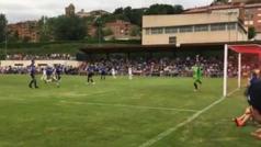 Burgui firmó para el Alavés uno de los goles de lo que va de pretemporada