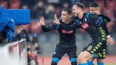 Europa League (1/16, ida): Resumen y goles del Zúrich 1-3 Nápoles