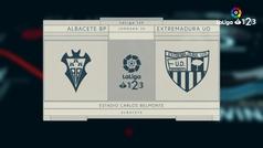 LaLiga 123 (J30): Resumen y goles del Albacete 1-0 Extremadura