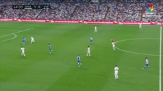 El larguero evitó el empate del Espanyol tras el fallo de Sergio Ramos