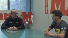 Jon Fernández visita la redacción de MARCA