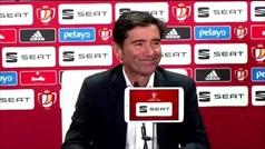 """Marcelino: """"Ganar una Copa del Rey y ganar al Barça tiene un valor añadido"""""""