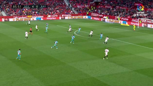 Gol de Bryan Gil (5-0) en el Sevilla 5-0 Rayo Vallecano