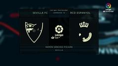 LaLiga (J12): Resumen y goles del Sevilla 2-1 Espanyol
