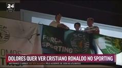 """La madre de Cristiano, eufórica por la Liga del Sporting: """"Hablaré con él para que vuelva"""""""