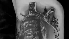 Jesé publica el 'making of' de su espectacular tatuaje de Batman