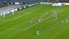 Gol de Fabián (2-1) en el Nápoles 2-1 Granada