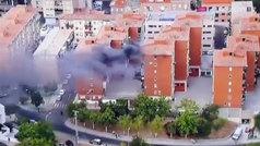 ¡El helicóptero de La Vuelta descubre un incendio en Toledo!