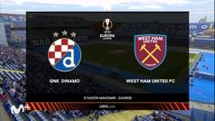 Europa League (J1): Resumen y goles del Dinamo Zagreb 0-2 West Ham