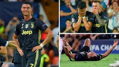 Cristiano fue expulsado con roja directa y se marchó llorando de Mestalla