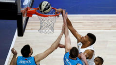 Copa. Resumen: Real Madrid 94-83 Estudiantes