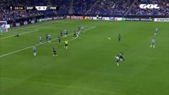 Gol de Vargas (1-1) en el Espanyol 1-1 Ferencvaros