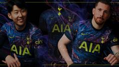 La controvertida nueva camiseta 'galáctica' del Tottenham: ¿te gusta