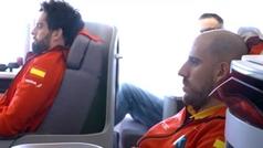 Pau Gasol se cuela en el avión de la Selección de Baloncesto rumbo al Mundial con un emotivo mensaje