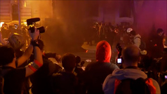 Los CDR se manifiestan en Barcelona tras la inhabilitación de Quim Torra