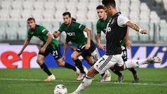 Doblete de Cristiano de penalti para salvar un punto ante el Atalanta
