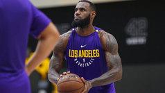 Más fuerte que nunca; así fue el primer entrenamiento de LeBron con los Lakers