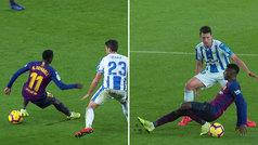 Dembélé se lesionó él solo: esguince leve de tobillo en un resbalón desafortunado