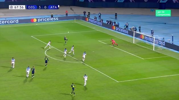 Gol de Orsic (4-0) en el Dinamo Zagreb 4-0 Atalanta