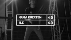 El ex tenista brasileño Gustavo Kuerten, 'Guga', habla con la artista puertorriqueña Ile