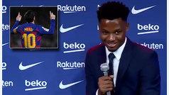 La incómoda pregunta que Ansu Fati no quiso responder: ¿habló con Messi del dorsal '10'?