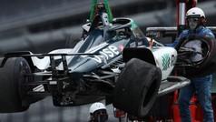 Así fue el accidente de Alonso en Indianapolis