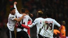 Europa League (1/16, ida): Resumen y goles del Galtasaray 1-2 Benfica
