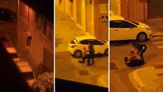 De locos: salta desde un segundo piso a una furgoneta... ¡para encararse a la Guardia Civil!