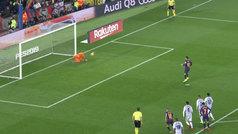 Messi falló un segundo penalti ante el muro Masip