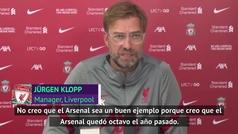 El palito de Klopp al Arsenal... no le pega hablar así de un rival