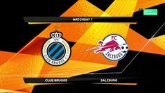 Europa League (1/16, ida): Resumen y goles del Brujas 2-1 RB Salzburgo