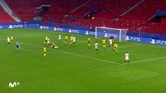 Gol de De Jong (2-3) en el Sevilla 2-3 Dortmund