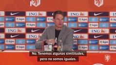 """Frank de Boer, presentado con Holanda: """"No soy una copia de Koeman"""""""