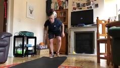 Paloma Pujol entrena en casa durante la cuarentena