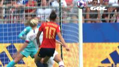 Gol de Jenni Hermoso (0-1) en el España 1-2 Estados Unidos