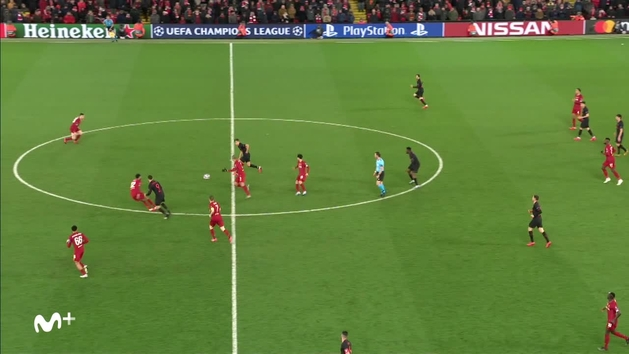 Gol de Morata en el Liverpool 2-3 Atlético de Madrid