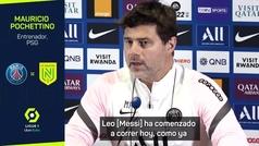 """Pochettino: """"Esperemos que Messi pueda jugar contra al City"""""""