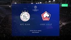 Champions League (Grupo H): Resumen y goles del Ajax 3-0 Lille