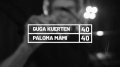 El ex tenista brasileño Gustavo Kuerten, 'Guga', habla con la trapera Paloma Mami