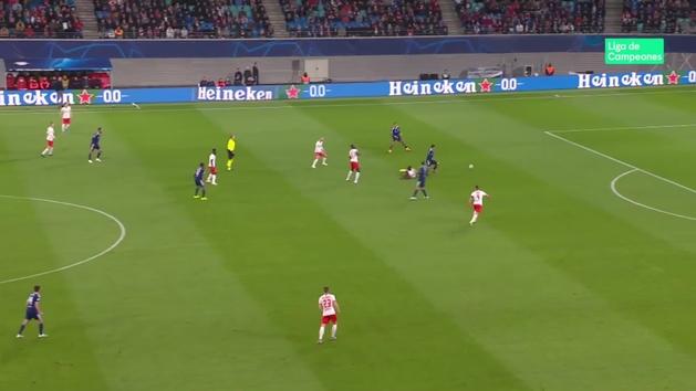 Gol de Depay (0-1) en el RB Leipzig 0-2 Lyon