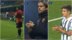 En el Benevento vs Juventus se llegó al minuto 10 y pasó esto: precioso homenaje a Maradona