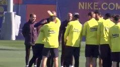 Pasillo de collejas a Braithwaite como bienvenida a Can Barça
