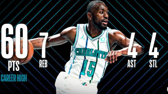 Kemba Walker se luce con 43 puntos en victoria de Hornets