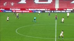 Gol de Rakitic (2-0) en el Sevilla 2-0 Barcelona