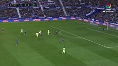 Gol de Piqué (0-5) en el Levante 0-5 Barcelona