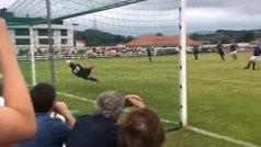 Luca Zidane se estrena con el Racing de Santander... ¡parando un penalti!