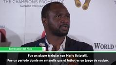 Patrick Vieira: ''Balotelli no entendía que el fútbol es un juego de equipo''