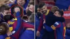 De los tirones de pelo a Piqué al abrazo más culé de Messi