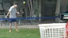 Las proezas virales de Lucas Letelier Seisdedos, el prodigio de 10 años del tenis chileno